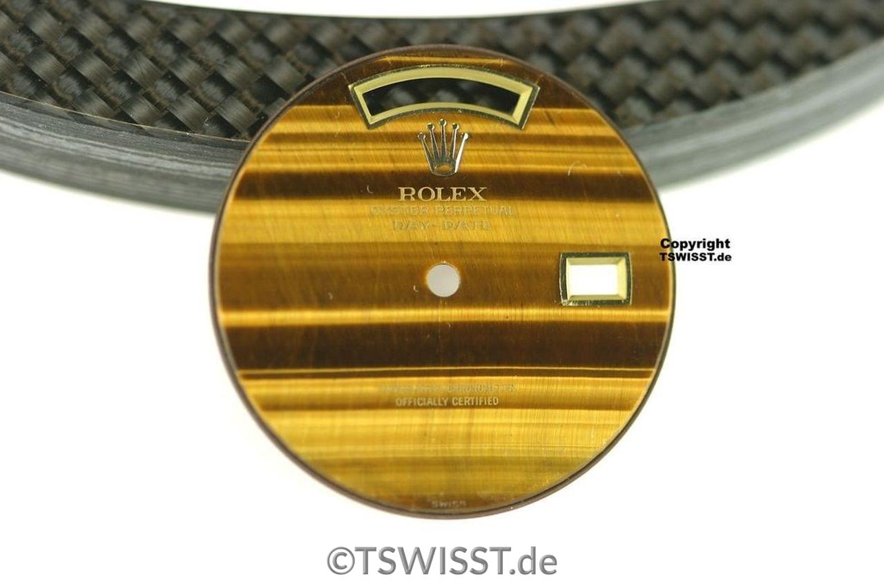 Rolex 180 Day Date Tigerauge Zifferblatt 02