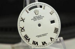 Sehr gut erhaltenes weißes Zifferblatt für Rolex Day-Date