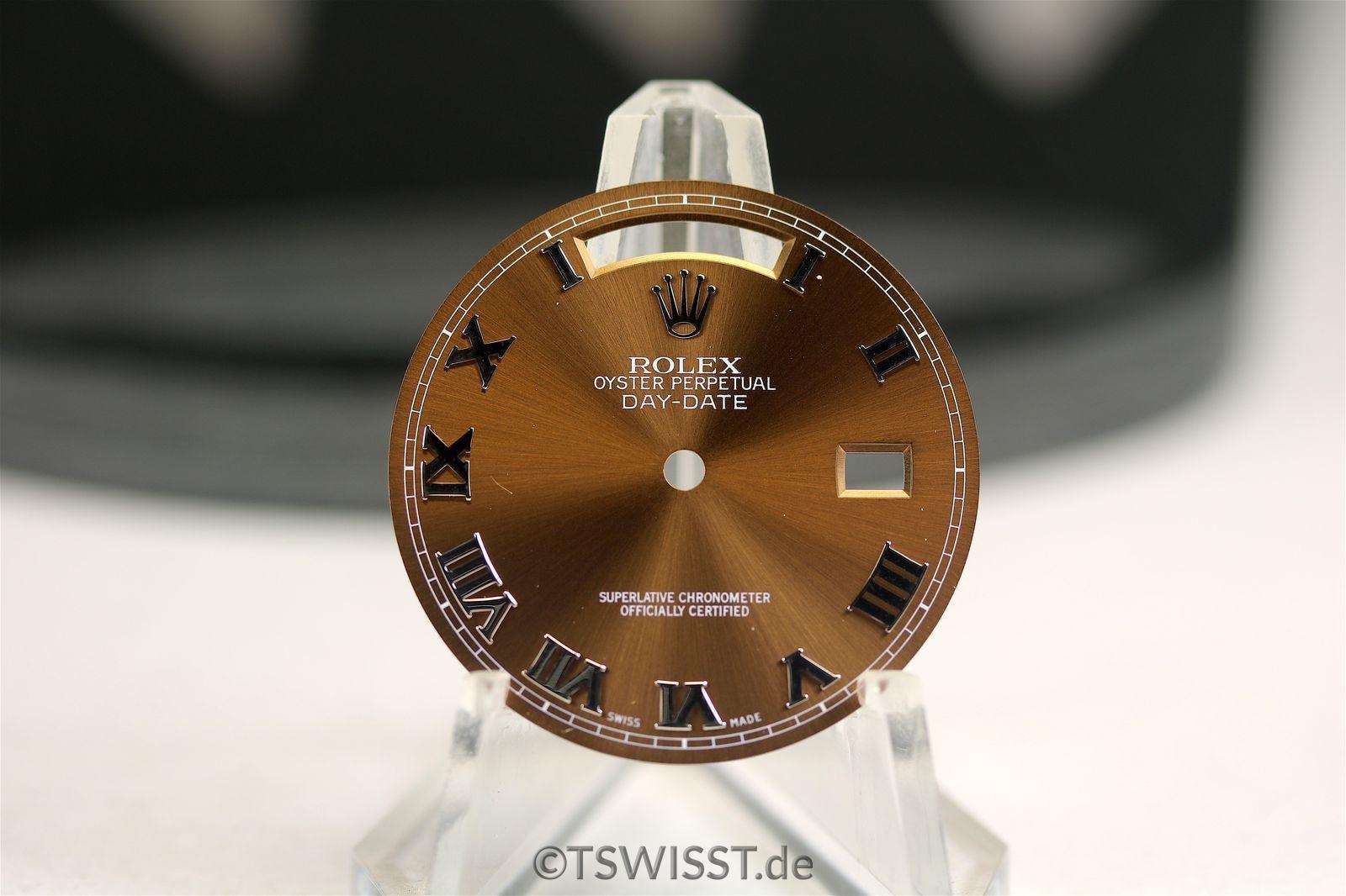 Rolex copper daydate dial whitegold