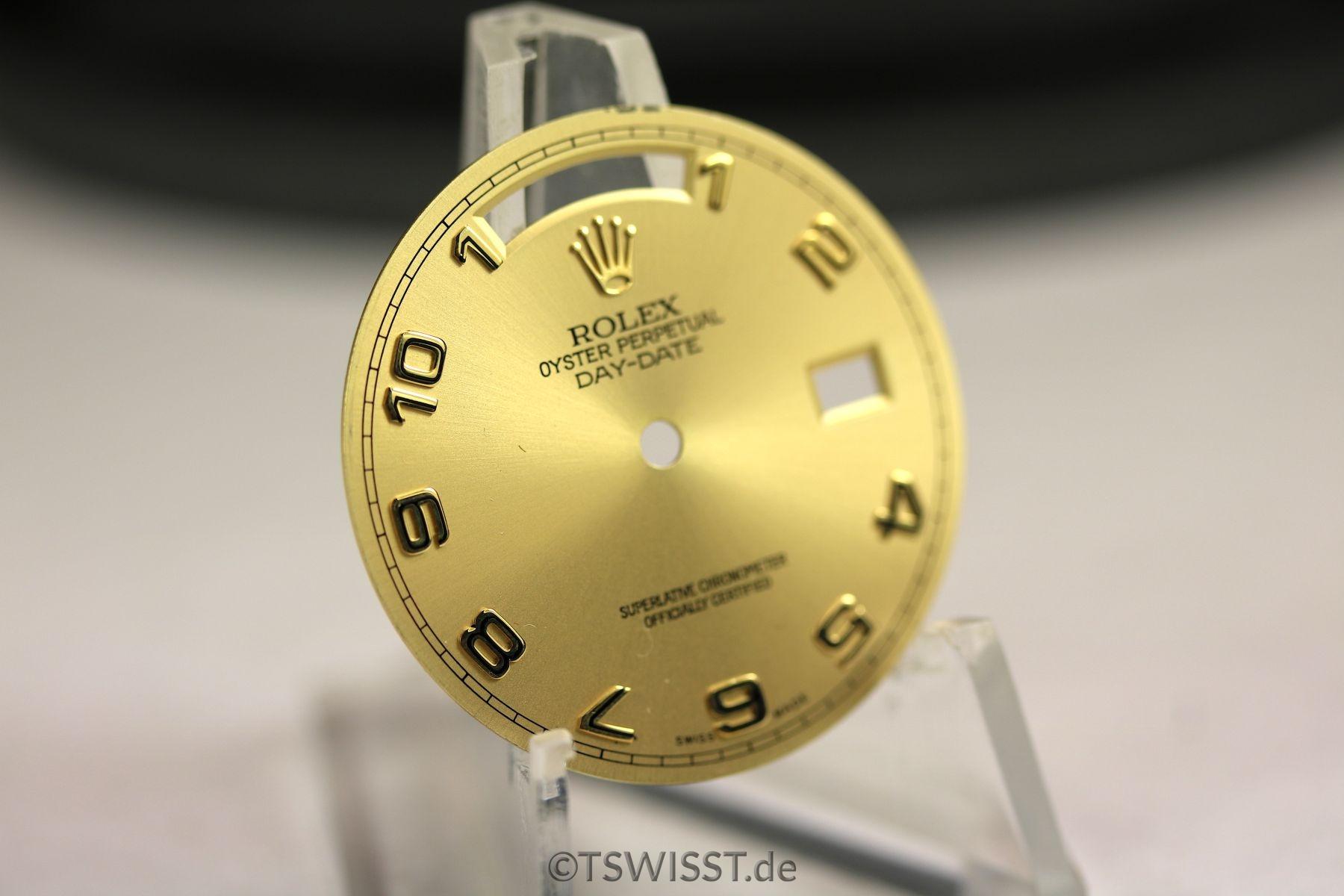 Rolex Daydate dial Gold Arab a