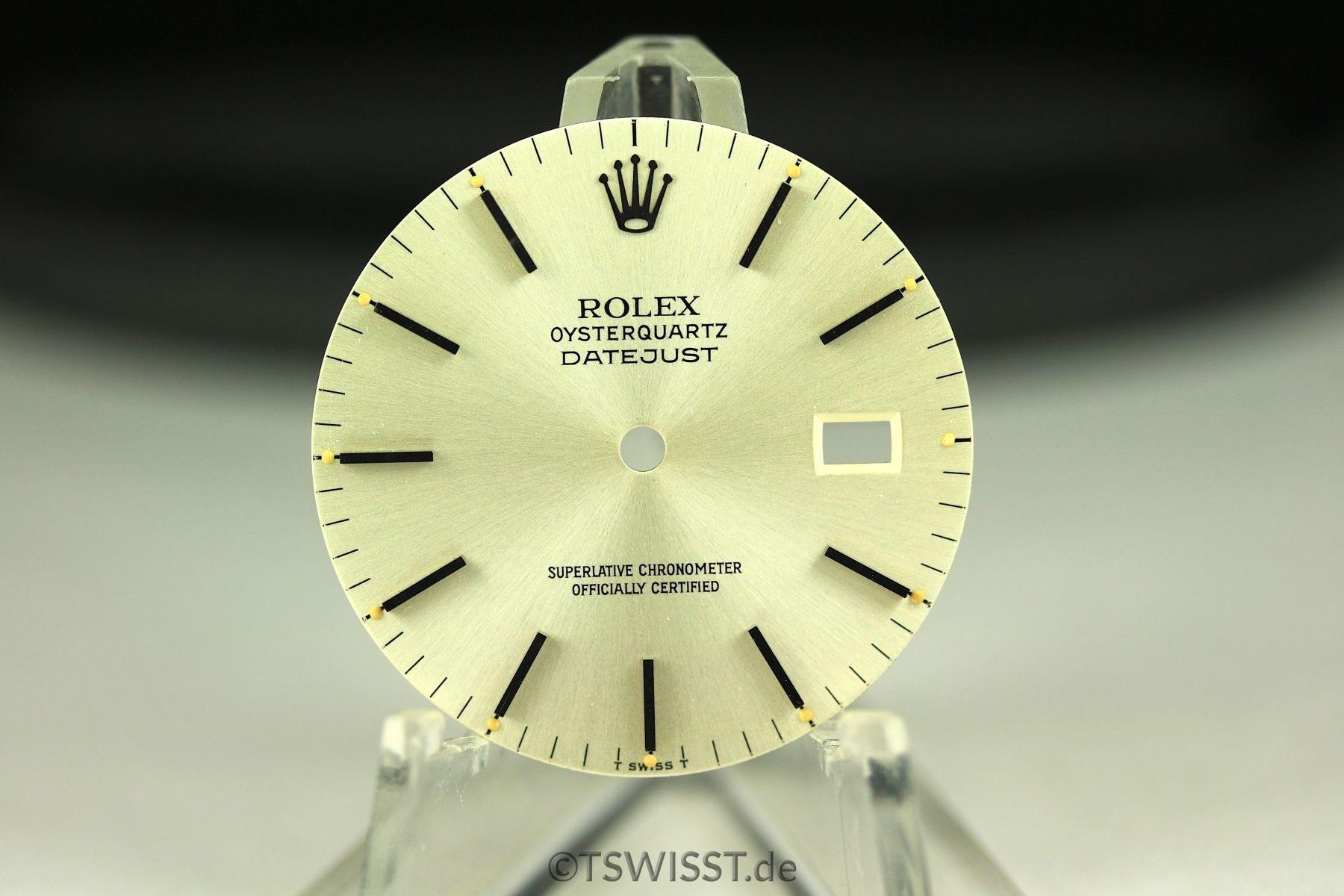 Rolex OQ Datejust dial
