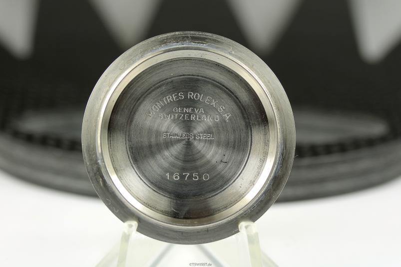 Rolex 16750 case back