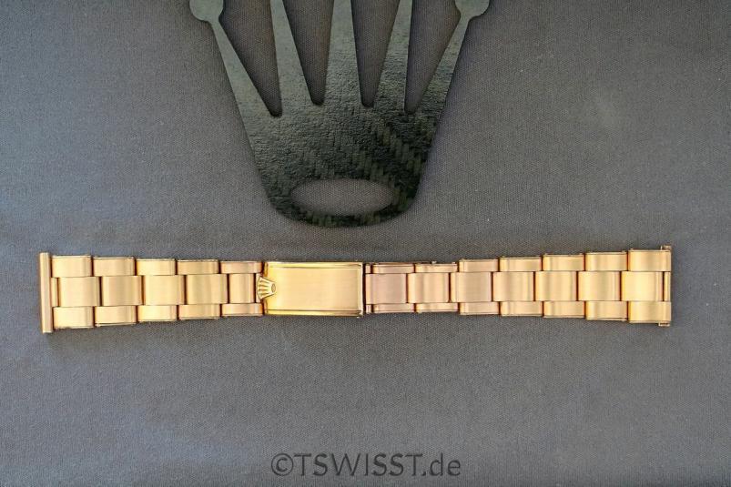 Rolex rivet pink gold bracelet